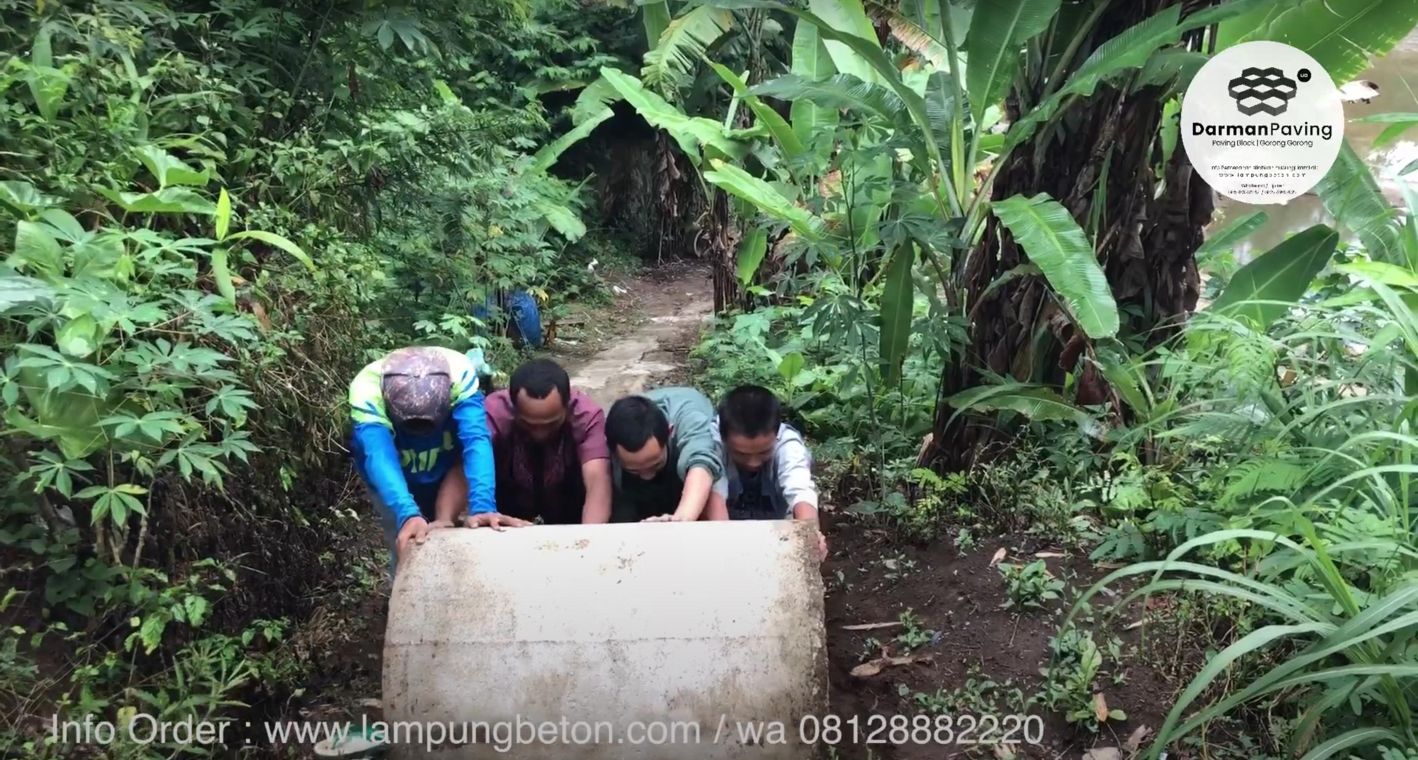 Proses Pengiriman Gorong-Gorong / Buis Beton Untuk Septic Tank – Lampung Barat