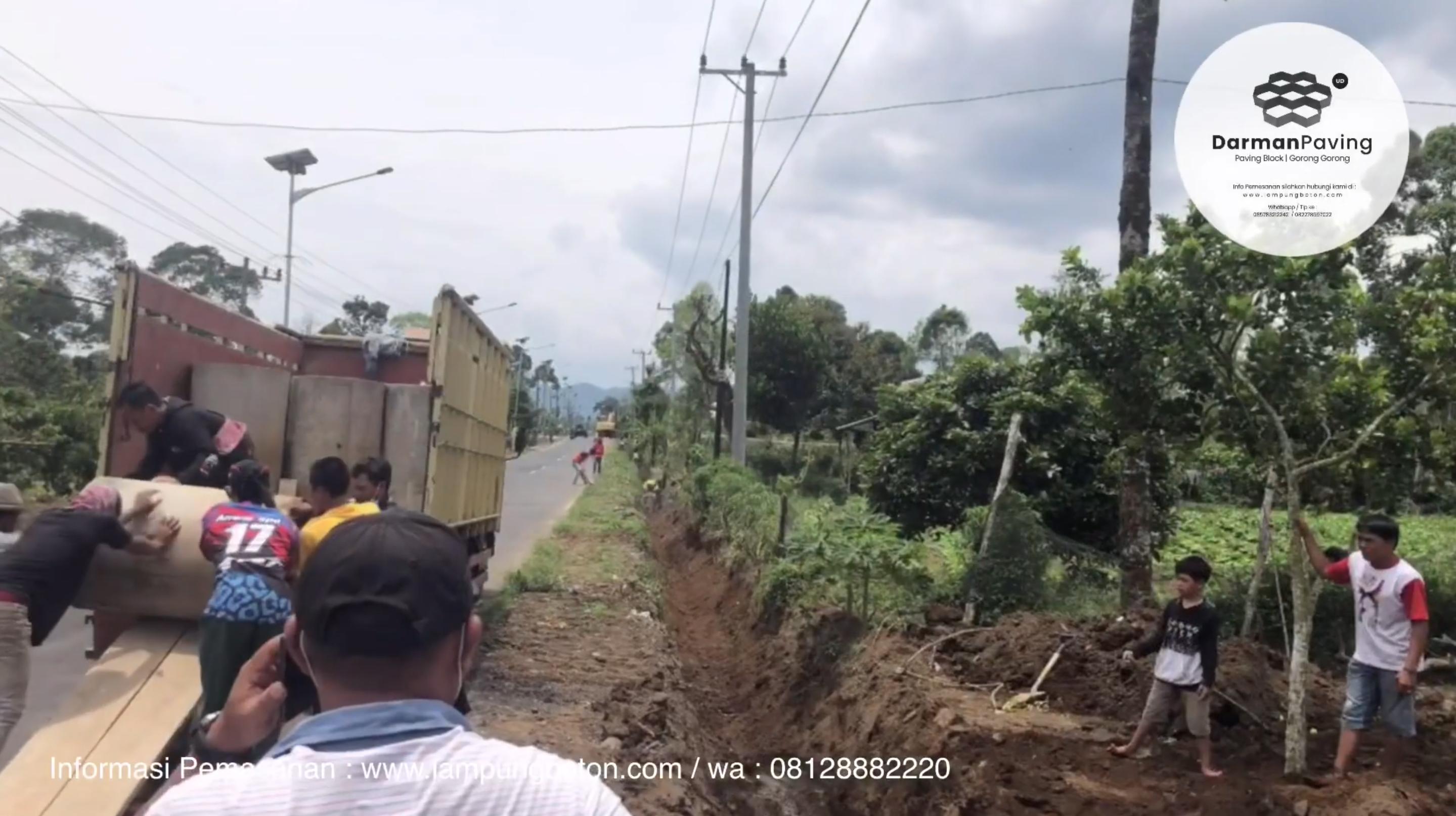 Proyek Order & Pemasangan Gorong-Gorong di Kembahang, Batu Brak, Lampung Barat