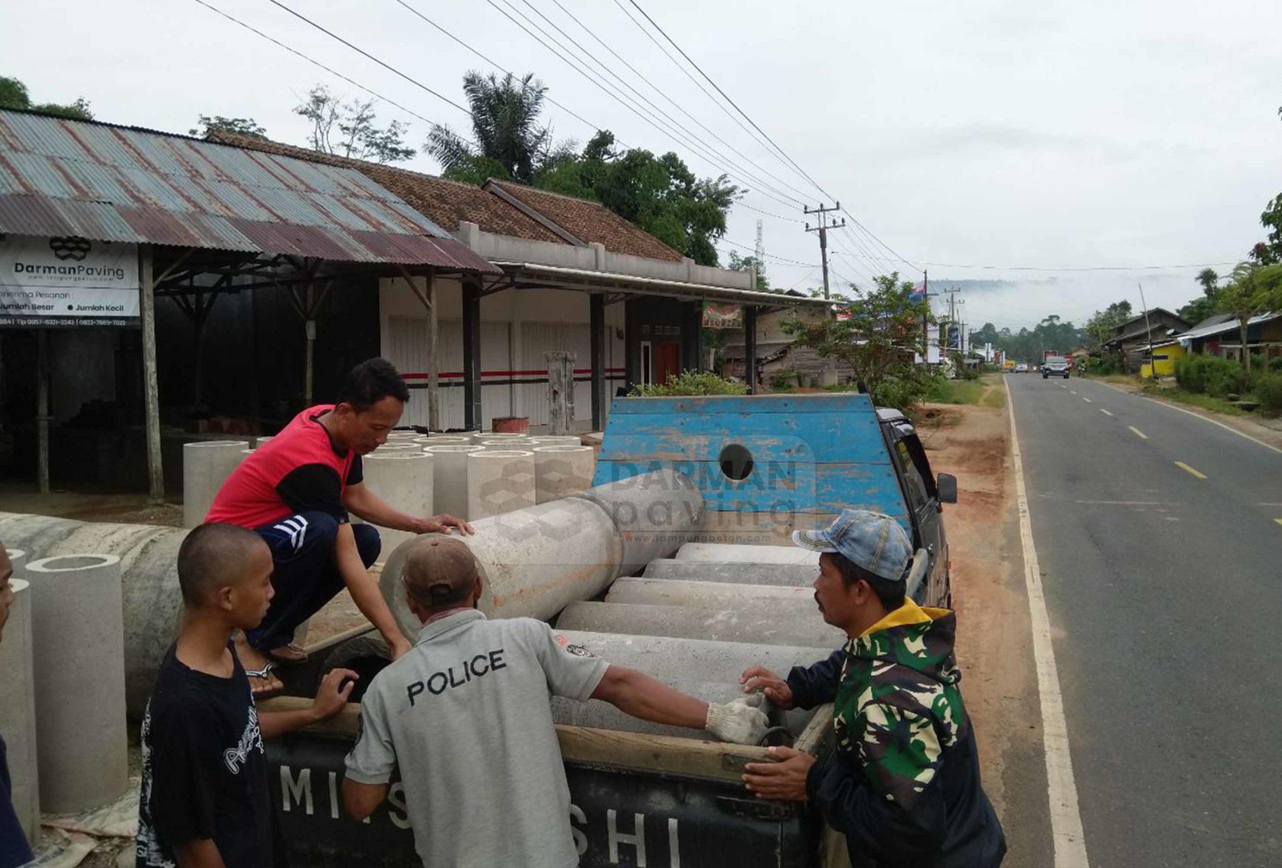 Pengiriman Gorong-Gorong Untuk Irigasi ke Pahayu Lampung Barat